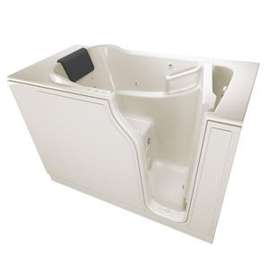 American Standard 105 Premium Series 51-1/2 x 29-3/4 in. 39-Jet Gelcoat and Fiberglass Rectangle Built-In 3-Wall Alcove Bathtub with Right Drain A3052105CR