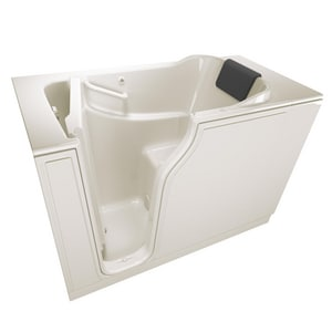 American Standard 105 Premium Series 51-1/2 x 29-3/4 in. 26-Jet Gelcoat and Fiberglass Rectangle Built-In 3-Wall Alcove Bathtub with Left Drain A3052105AL