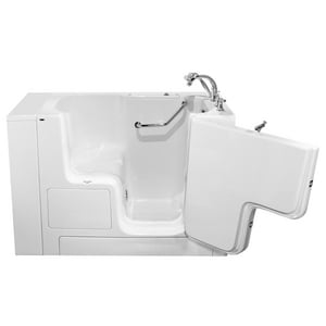 American Standard 709 Value Series 52 x 32 in. Gelcoat Rectangle Walk-In and Built-In Bathtub with Right Drain A3252OD709SR