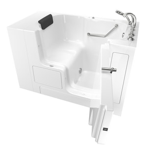 American Standard 109 Premium Series 52 x 32 in. Gelcoat Rectangle Walk-In and Built-In Bathtub with Right Drain A3252OD109SR