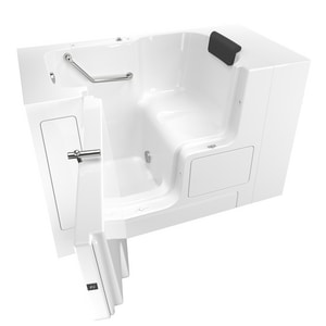 American Standard 105 Premium Series 52 x 32 in. Gelcoat Rectangle Walk-In and Built-In Bathtub with Left Drain A3252OD105SL