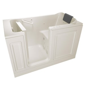 American Standard 215 Premium Series 59-3/4 x 32 in. 39-Jet Acrylic Rectangle Built-In and 3-Wall Alcove Bathtub with Left Drain A3260215CL