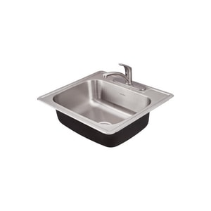 American Standard Colony® 6 in. 20 ga 3-Hole 1-Bowl Top Mount Kitchen Sink in Stainless Steel A22SB6252283C075