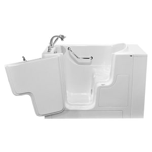 American Standard 709 Value Series 52 x 30 in. Gelcoat Rectangle Walk-In and Built-In Bathtub with Left Drain A3052OD709SL