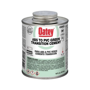 Oatey PVC ABS Transition Cement in Green O30925