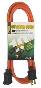 Prime Wire and Cable 10 ft. Outdoor Extension Cord in Orange PEC501610