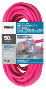 Prime Wire and Cable Extension Cord in Neon Pink PNS5138