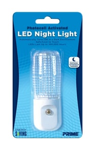 Prime Wire and Cable Automatic LED Night Light in White 1 Pack PNLAE33