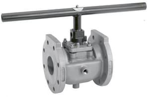 Xomox Figure 067 Nickel 235 psi Flanged Locking Handle Plug Valve X06755P1WY