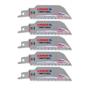 Lenox Lazer CT™ 8 TPI Carbide-Tipped Reciprocating Saw Blade 5 Pack L20142