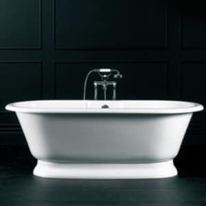 York 68-1/2 x 31-1/4 in. Volcanic Limestone Oval Freestanding Bathtub VYORNOF