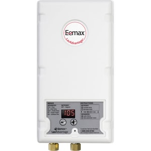 Eemax LavAdvantage 240V 140F Electric Tankless Hot Water Heater with Thermostatic Temperature Control ESPEXT