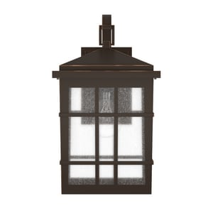 Park Harbor® Ambler 8-1/2 in. 100W 1-Light Tall Outdoor Wall Sconce with Seedy Glass Shade in Oil Rubbed Bronze PHEL3301ORB