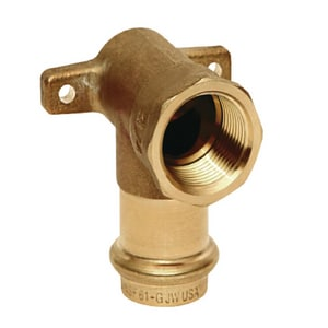 Mueller Industries Streamline® PRS™ 1/2 in. Press x FNPT Copper 90 Degree Elbow MPF01508