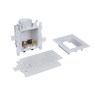 Oatey Moda™ 1/4 in. PVC Tail Washing Machine Outlet Box No-Hammer Standard Pack with PEX Connection O37544