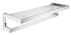 Grohe Selection Cube 22-5/8 in. Multi Bath Towel Rack in Starlight Chrome G40804000