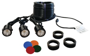 Kasco Marine Incorporated 120V 11W 3-Light Fountain Fixture Kit with Cord KLED3C11