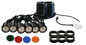 Kasco Marine Incorporated 120V 11W 6-Light Fountain Fixture Kit with Cord KLED6C11