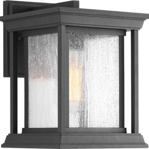 Progress Lighting Endicott 100W 1-Light Small Outdoor Wall Lantern in Black PP560531