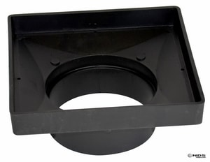 National Diversified Sales 9 in. Hub Adapter in Black N932