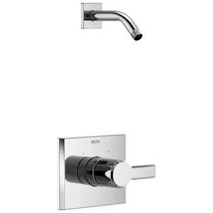 Delta Faucet Pivotal™ 1.75 gpm Wall Mount Shower Faucet Trim Only with Single Lever Handle (Less Head) DT14299LHD