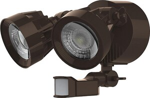 Nuvo Lighting Signature 6-81/100 in. 24W Dual Head Security LED Light in Bronze N65094