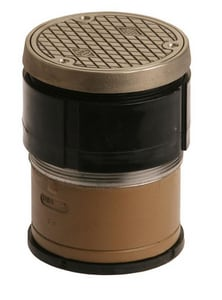 Jay R. Smith Manufacturing Twis-To-Floor® Nickel Bronze Round Floor Clean-Out S4031LNB