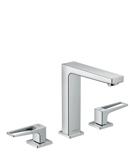 Hansgrohe Metropol 160 1.2 gpm 3-Hole Deck Mount Lavatory Faucet with Double Loop Handle H74519
