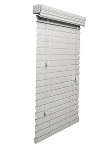 30-1/2 x 84 x 2 in. Faux Wood Blind in White LFC30584WH