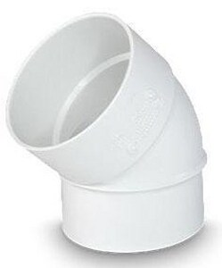 Hub x Spigot PVC Sewer Street 45 Degree Elbow MUL0404