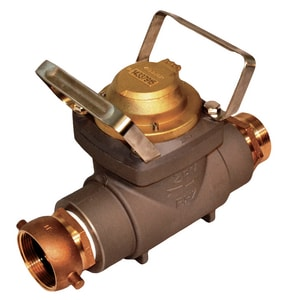 Zenner Performance 2-1/2 in. FNST x MNST Aluminum, Stainless Steel and Brass Hydrant Water Meter with Internal Check Valve - Cubic Foot ZFHZ30SCF at Pollardwater