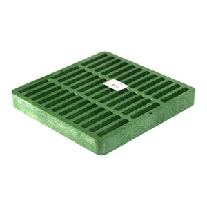 NDS 9 x 9 in. Square Grate Green N990
