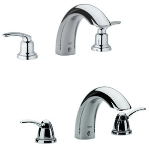 Grohe Talis® 3-Hole Deckmount Roman Tub Faucet in Starlight Polished Chrome (Less Handle) G25596000