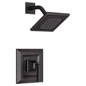American Standard Town Square® S 1/2 in. NPT 1.8 gpm Shower Valve Trim Kit with Square Single Lever Handle in Legacy Bronze AT455507278