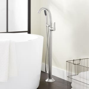 Mirabelle® Provincetown 8.5 gpm Floor Mount Tub Filler with Single Lever Handle and 1.8 gpm Handshower MIRPRFS2000G