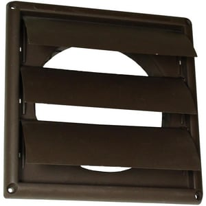 Deflecto Louvered Vent Hood Brown DHS4B48
