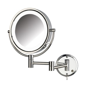 Jerdon Style 8-1/2 in. LED Lighted Wall Mount 8X Magnifying Mirror JHL88L