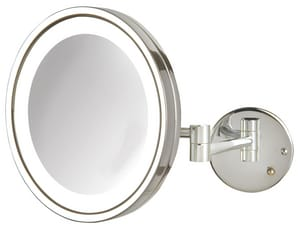 Jerdon Style 9-1/2 x 16 in. LED Lighted Wall Mount 5X Magnifying Mirror JHL1016L