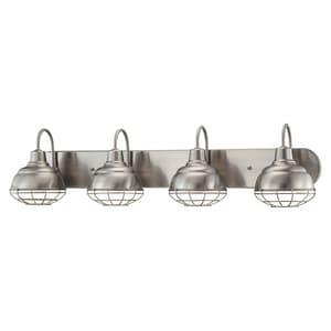 Millennium Lighting Neo-Industrial 36-1/2 x 9 in. 400W 4-Light Medium E-26 Vanity Fixture M5424