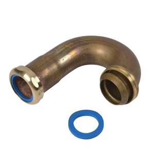 Dearborn Brass 17 ga Ground Joint Sink J-Bend Unfinished Brass Nut DEA655BN3