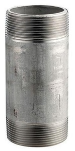 Merit Brass 3/8 in. MNPT Schedule 40 316L Stainless Steel Weld Threaded Both End Nipple DS46NC