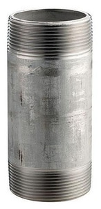 Merit Brass 1/4 in. 125# Schedule 40 304L Stainless Steel Weld Nipple Threaded Both End DS44NB