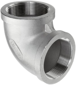 150# 316L Stainless Steel Threaded 90 Degree Elbow IS6CT9