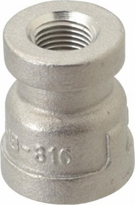 1/4 x 1/8 in. 150# 316L Stainless Steel Threaded Coupling IS6CTCBA