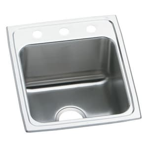 Elkay Lustertone® 3-Hole Single Bowl Stainless Steel Bar Sink in Satin ELRAD1522603
