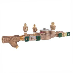Watts Bronze IPS Double Check Backflow Preventer with Strainer W007QTS