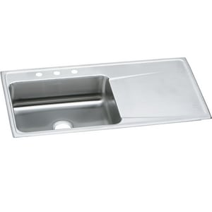 Elkay Lustertone® 1-Bowl Kitchen Sink with Right Hand Drainboard EILR4322L