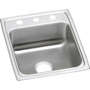 Elkay Lustertone® 1-Bowl Stainless Steel Kitchen Sink ELRAD172055