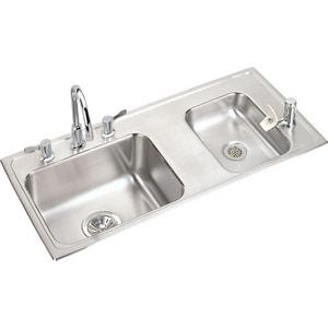 Elkay Lustertone® 18 Gauge 2-Bowl Classroom Sink EDRKAD371755RC