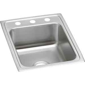 Elkay Lustertone® 1-Hole 1-Bowl Topmount Kitchen Sink ELRAD1722601